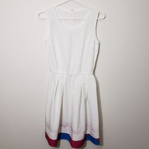 Oodji White Dress Midi XS Women's